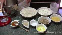 Ингредиенты Черный хлеб с кукурузной мукой