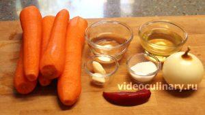 Ингредиенты Морковь по-корейски – морковча