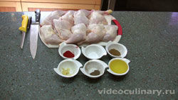 Ингредиенты Шашлык из куриных окорочков