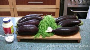 Ингредиенты Салат из варёных баклажанов с майонезом