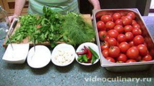 Ингредиенты Солёные помидоры (быстрый засол)