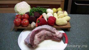 Ингредиенты Украинский борщ