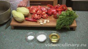 Ингредиенты Баклажаны в аджике