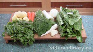 Ингредиенты Холодные зелёные щи