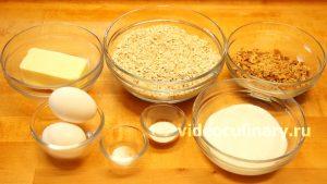Ингредиенты Овсяное печенье