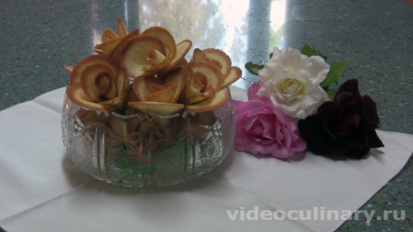 Печенье Розы к чаю