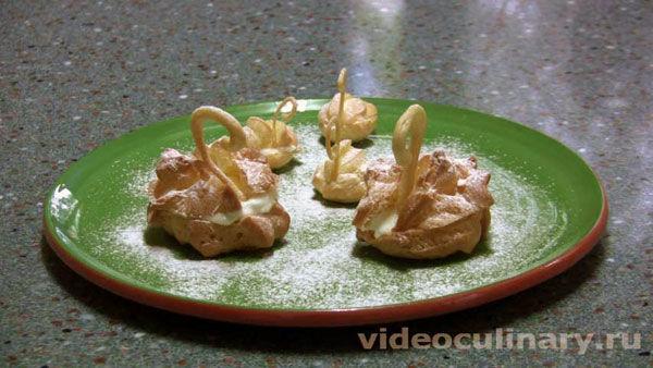 """Заварные пирожные """"Лебеди"""""""