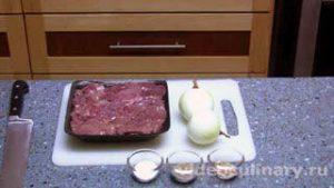 Ингредиенты Куриная печень жареная с луком