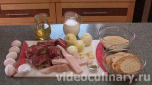 Ингредиенты Мясной рулет
