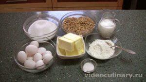 Ингредиенты Ореховый торт Избушка