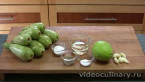 Ингредиенты Салат из кабачков по-алжирски