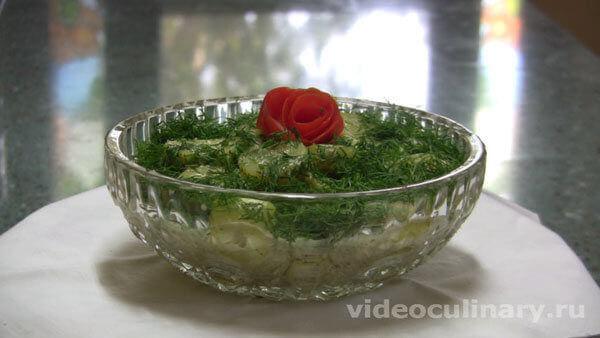 Салат из кабачков по-алжирски