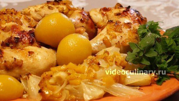 Курица в персиковой глазури