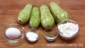 Ингредиенты Оладьи из кабачков
