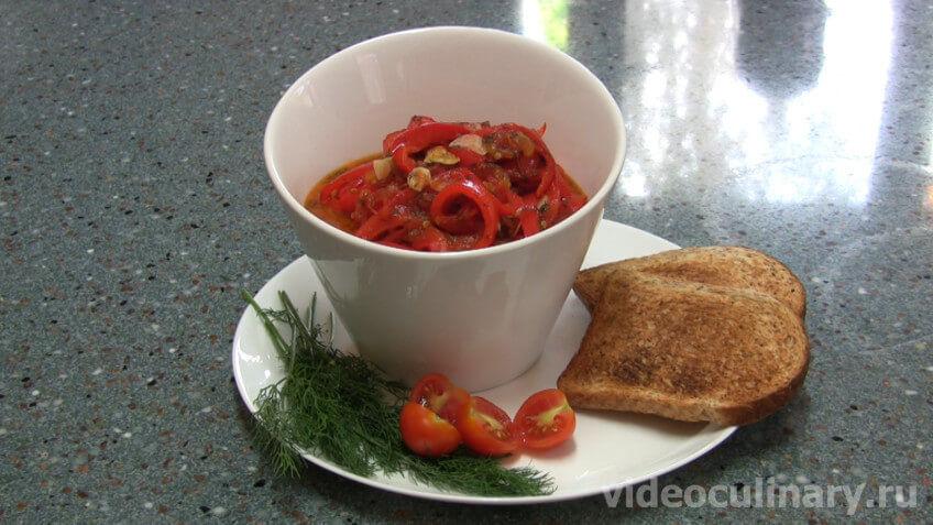Салат из болгарского перца Лёгкий