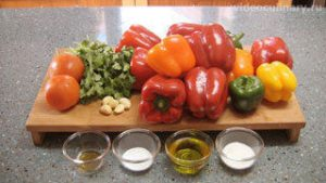 Ингредиенты Салат из печёного перца