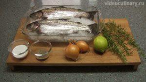 Ингредиенты Форель, запеченная в духовке
