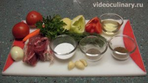 Ингредиенты Нарезной лагман (кесма лагмон)