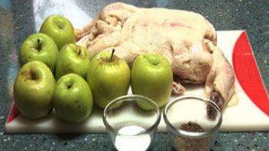 Ингредиенты Утка с яблоками