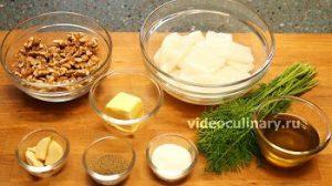 Ингредиенты Кальмары в чесночно-ореховом соусе