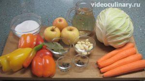 Ингредиенты Маринованная капуста