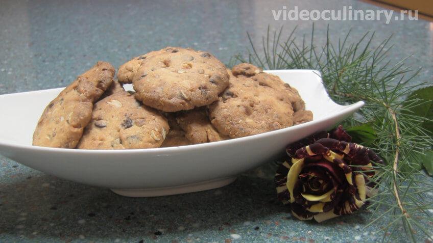 Миндально-шоколадное печенье