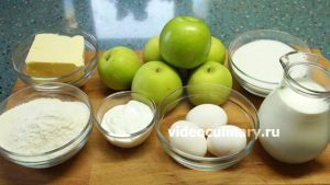 Ингредиенты Торт Наполеон с яблочной прослойкой