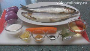 Ингредиенты Селёдка в прозрачном маринаде