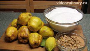Ингредиенты Варенье из айвы