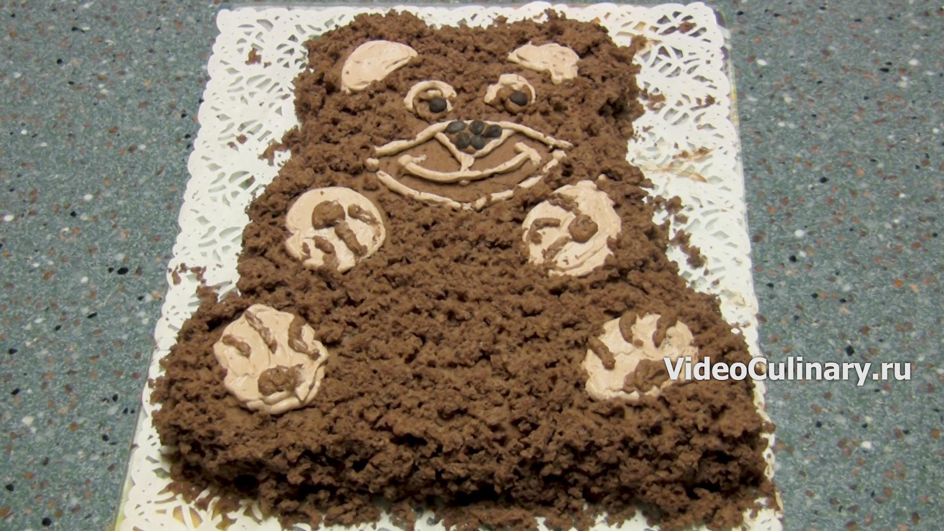 Детский торт шоколадный Мишка