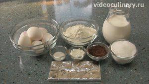Ингредиенты Бисквитный шоколадный торт Мишка