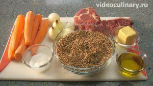 Ингредиенты Гречневая каша с мясом по-узбекски или плов из гречки