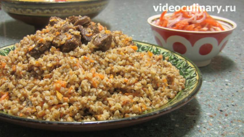Гречневая каша с мясом по-узбекски или плов из гречки