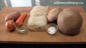 Ингредиенты Грибной суп с поджаркой