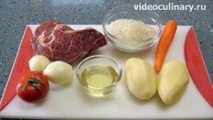 Ингредиенты Рисовый суп с поджаркой (Мастава)