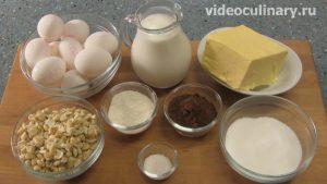 Ингредиенты Киевский торт