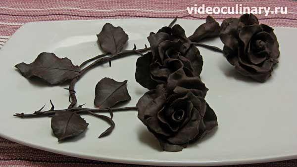Роза из шоколада мастер-класс