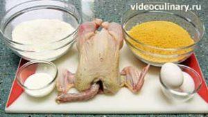 Ингредиенты Цыплёнок по-венски