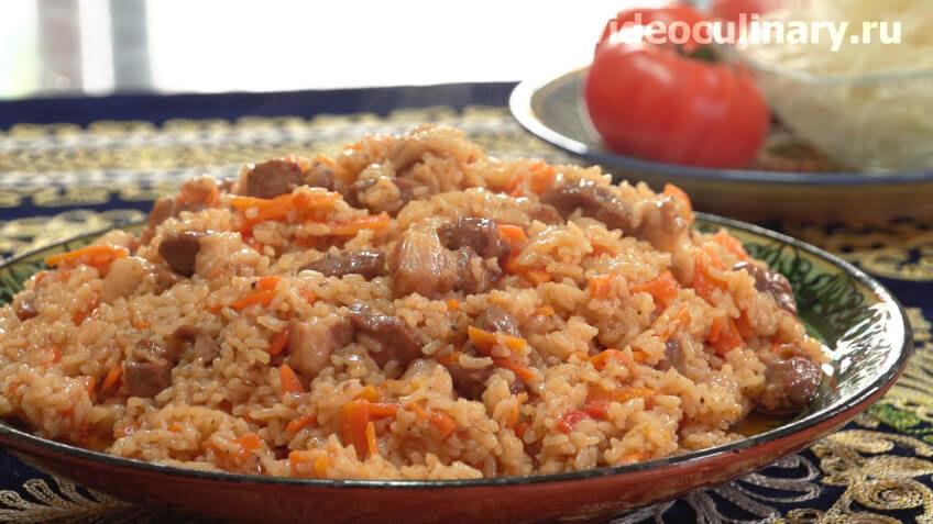 Вкусная каша рисовая с мясом