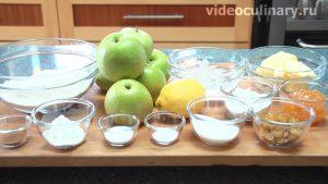 Ингредиенты Яблочный пай (яблочный пирог)