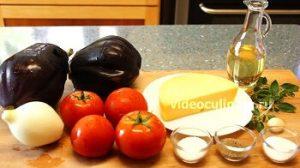 Ингредиенты Баклажаны с помидорами и сыром