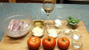 Ингредиенты Фаршированные кальмары в томатном соусе