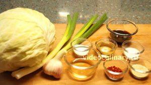 Ингредиенты Капустный салат по-корейски
