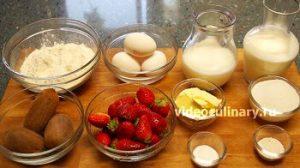 Ингредиенты Заварные пирожные Даниэла