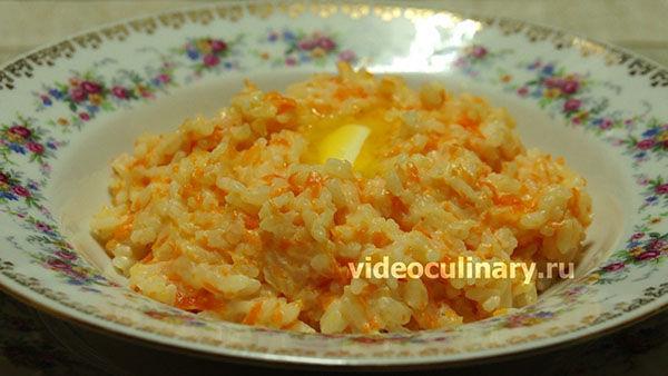 Рисовая молочная каша с тыквой