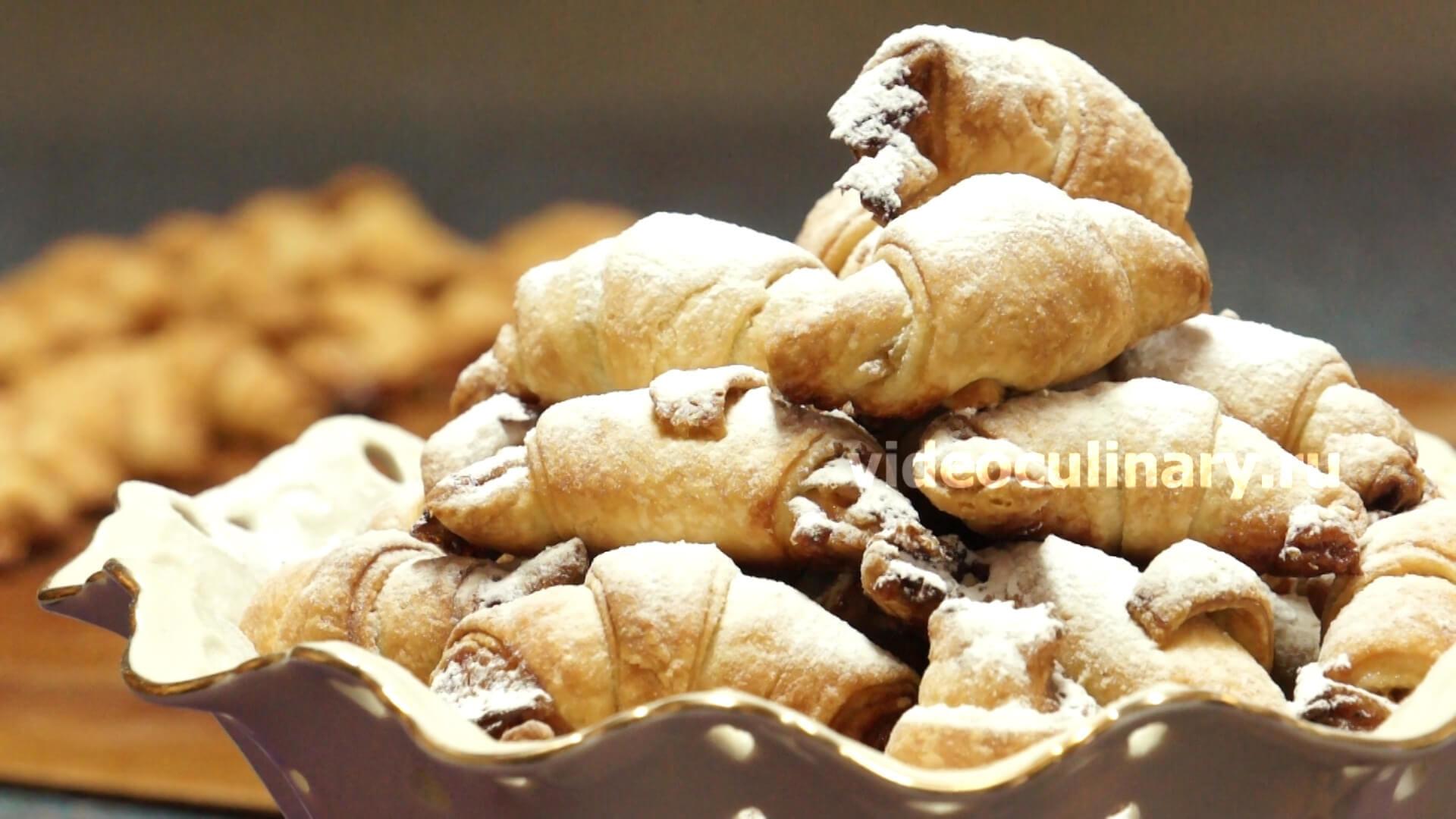 Рогалики из песочного теста с повидлом рецепт с пошагово в духовке