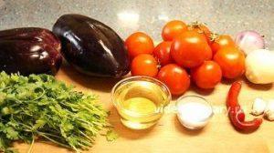 Ингредиенты Салат из баклажанов Домашний