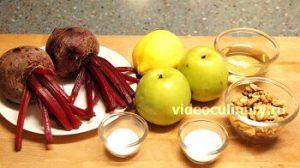 Ингредиенты Салат из свёклы Диетический
