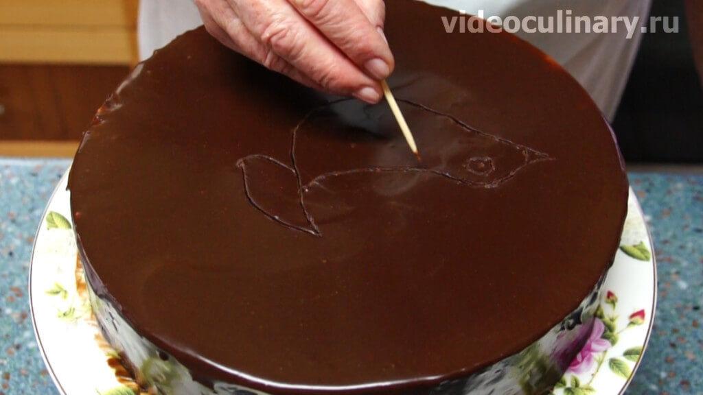 как украсить торт птичье молоко фото