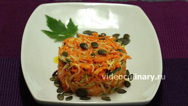 Тыквенный салат к мясу